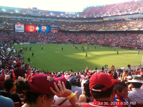 man united barcelona fedex field1 Manchester United 2011 US Tour: In Pictures
