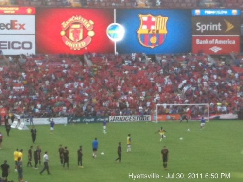 man united barcelona scoreboard2 Manchester United 2011 US Tour: In Pictures