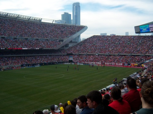 man united chicago fire soldier field1 Manchester United 2011 US Tour: In Pictures