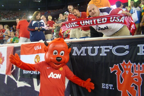 man united mascot fred the red1 Manchester United Kick Off US Summer Tour With 4 1 Win Against Revs