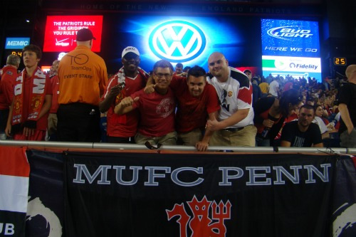mufc penn fans2 Manchester United Kick Off US Summer Tour With 4 1 Win Against Revs