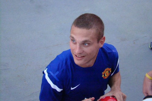 nemanja vidic training1 Clint Dempsey and Other Transfer Targets for Manchester United This Summer