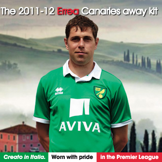 norwich city away shirt1 Norwich City Away Shirt for 2011 12 Season: When Irish Eyes Are Smiling