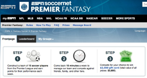 espn fantasy soccer1 ESPN Premier Fantasy: Tips On Who to Add to Your Team