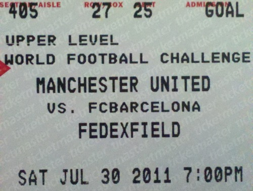 man united barcelona ticket stub1 Watching Man United Against Barcelona From the Nosebleed Section