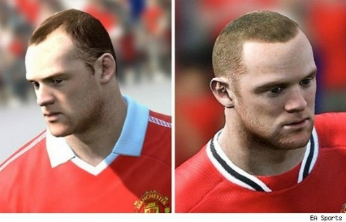 wayne rooney hair fifa 121 Wayne Rooney's Hair Transplant in FIFA 12: Before and After Photos