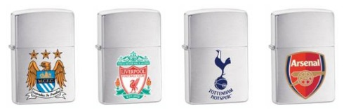 zippo premier league lighters1 Londons Burning
