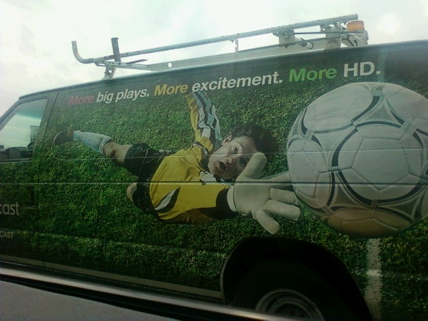 comcast truck advertising soccer Comcast Soccer Fail: Caught In The Wild (Photo)