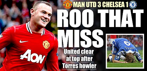 man utd 3 1 chelsea rooney penalty torres Man United 3 1 Chelsea: A Closely Fought Game, Despite The Scoreline