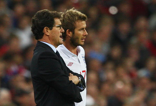 fabio capello david beckham 5 Leading Candidates to Take The Tottenham Hotspur Manager Vacancy
