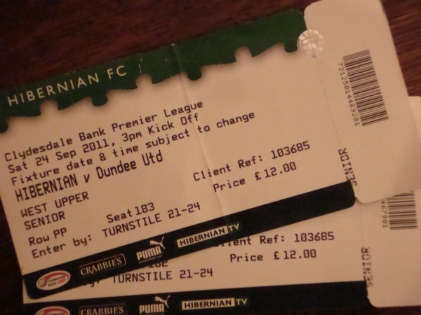 hibs 2 An American Tale: Experiencing the Scottish Premier League In Person