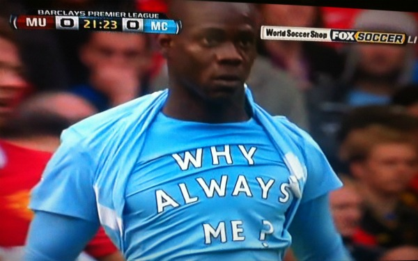 mario balotelli why always me Noel Gallagher Talks About Mario Balotelli, The Man From Another Planet (Video)