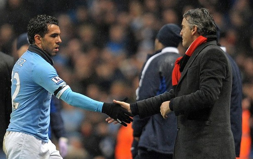 tevez mancini The Sensitive Relationship Between Carlos Tevez and Roberto Mancini