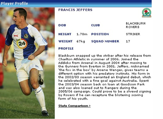 francis jeffers Whatever Happened to Francis Jeffers? (Who Are Ya?)