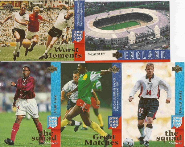 england card collection sm England Card Collection From 1998 World Cup: Photos