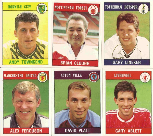 football 90 panini stickers 5 Classic Premier League Footballers From The Past: A Walk Down Memory Lane, Part Two
