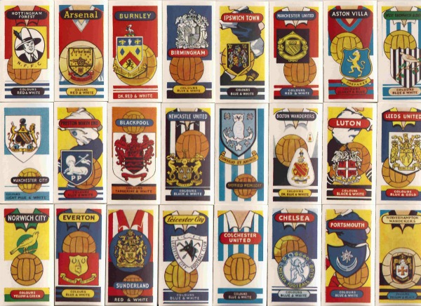 football clubs and badges 1962 rg Look At These English Football Clubs And Badges From 1962: Collectors Card Photos