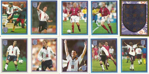 merlins official england 1998 world cup rg England 1998 World Cup Stickers From Merlin: Photos