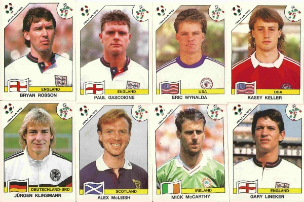 world cup 1990 panini rg 1990 World Cup Panini Stickers Featuring Some Familiar Faces: Photos
