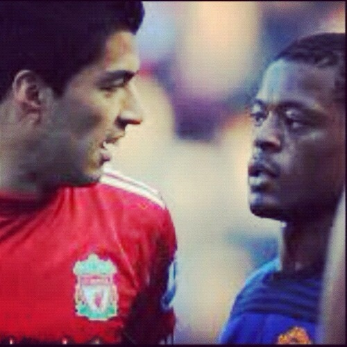 luis suarez patrice evra1 Man United 2 1 Liverpool: The Day Class Left The Stadium