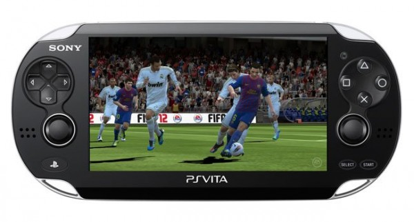 ps vita fifa 12 600x322 First Look At FIFA 12 On PS Vita Handheld Game Console: Video