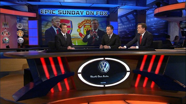 rob stone eric wynalda piers morgan 600x337 Highs and Lows Of FOXs Live Coverage of Chelsea Against Manchester United