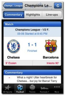 eurosports iphone app1 4 Mobile Apps For Soccer Fans: ESPNsoccernet, Live Score Addicts, Eurosport and ScoreMobile FC