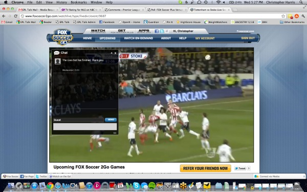 FOX Soccer 2Go Live Chat Feature FOX Soccer 2Go: The Definitive Guide to FOX Soccers Web and Mobile Apps