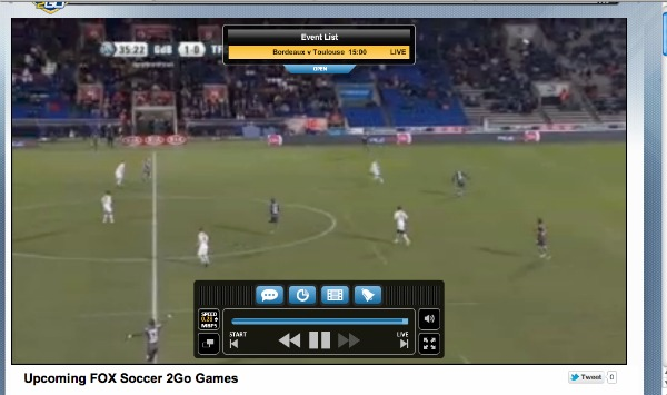 FOX Soccer 2Go Main Controls FOX Soccer 2Go: The Definitive Guide to FOX Soccers Web and Mobile Apps