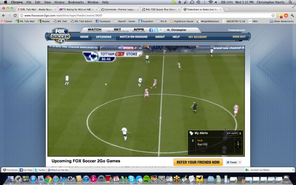 FOX Soccer 2Go My Alerts Feature FOX Soccer 2Go: The Definitive Guide to FOX Soccers Web and Mobile Apps