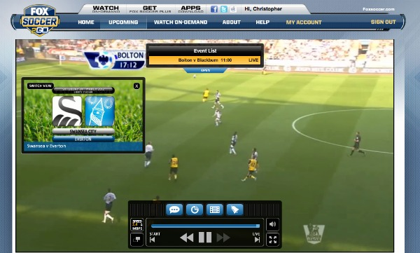 FOX Soccer 2Go Switch View Different Place FOX Soccer 2Go: The Definitive Guide to FOX Soccers Web and Mobile Apps