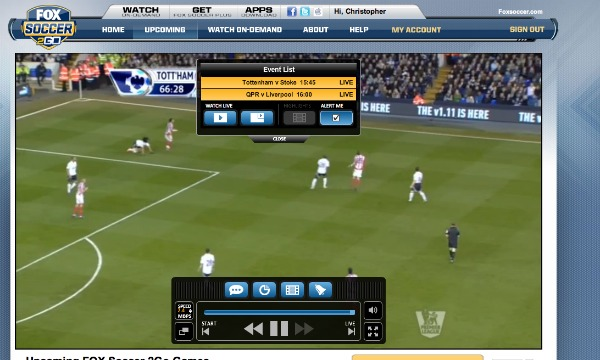 FOX Soccer 2Go: The Definitive Guide to FOX Soccer's Web and