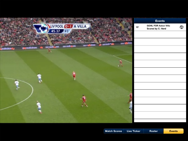 FOX Soccer 2Go iPad App Game Events FOX Soccer 2Go: The Definitive Guide to FOX Soccers Web and Mobile Apps
