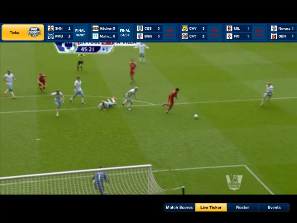 FOX Soccer 2Go iPad App Live Ticker FOX Soccer 2Go: The Definitive Guide to FOX Soccers Web and Mobile Apps