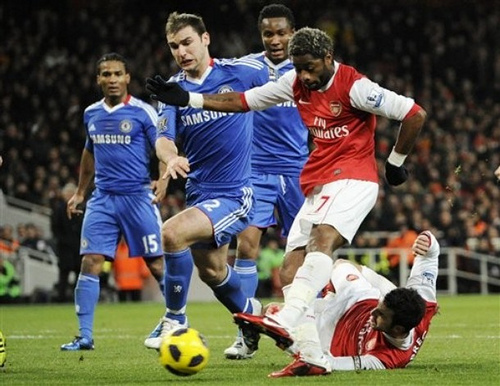 alex song Arsenal vs Chelsea: London Rivals with Champions League Future at Stake