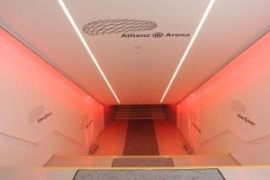 allianz arena tunnel 300x200 UCL: The Allianz Arena