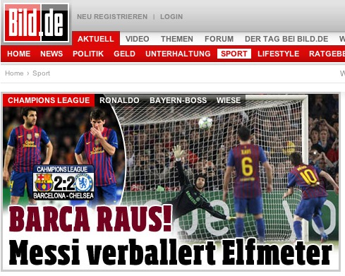 bild cover tiff European Press Reaction to Chelseas Brave Victory Against Barcelona [PHOTOS]