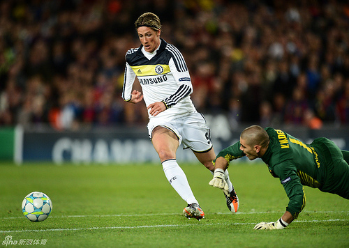 fernando torres2 Chelsea Victory Against Barcelona Smashes Super Bowl Record For Twitter Activity Worldwide