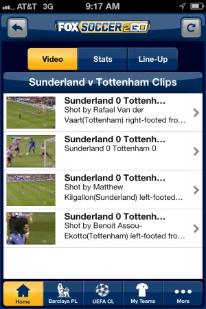 fox soccer 2go iphone app video highlights FOX Soccer 2Go: The Definitive Guide to FOX Soccers Web and Mobile Apps