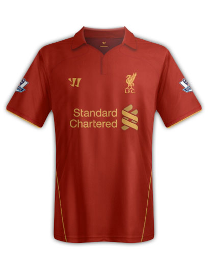 liverpool home shirt1 Are these Liverpools Home, Away and Third Shirts for the 2012 13 Season? [PHOTO]