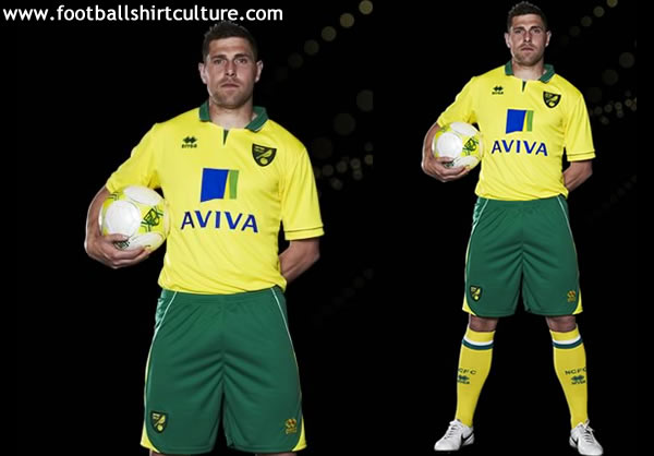 norwich city 12 13 errea home football kit a Norwich City Home Shirt for 2012 13 Season: Official Photos and Video