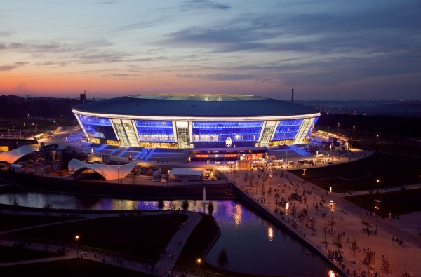Donbass Arena 600x395 Euro 2012 Host Cities and Stadia