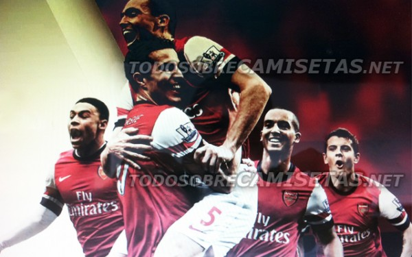 arsenal new shirt group shot 600x375 Arsenal Home Shirt for 2012 13 Season: Leaked On Internet [PHOTO]