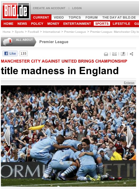 bild front cover tiff Worldwide Press Reaction to Manchester City Winning Premier League [PHOTOS]