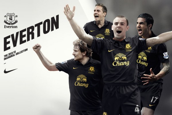 everton away kit 600x401 Everton Away Shirt for 2012 13 Season Unveiled By Nike [PHOTO]