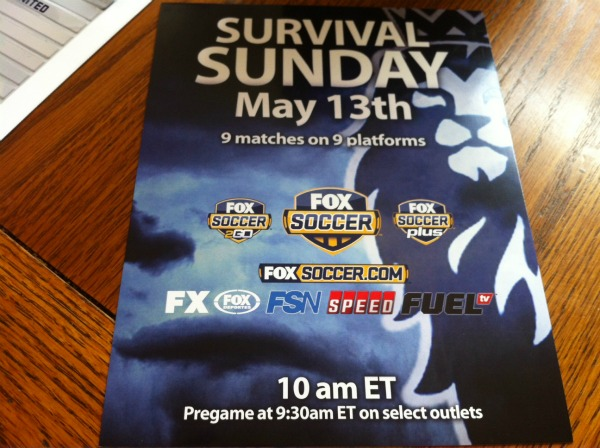 fox survival sunday flyer FOX Soccer Promotes Survival Sunday With Magnetic League Ladders