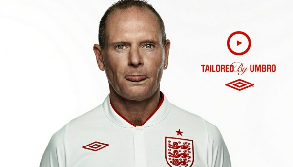 gazza england umbro tiff 600x342 Nike to Replace Umbro As Official Kit Providers for England Team: The Nightly EPL