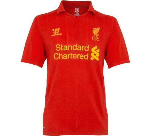 liverpool home shirt 2012 13 Liverpool Home Shirt for 2012 13 Season From Warrior Sports [PHOTOS]