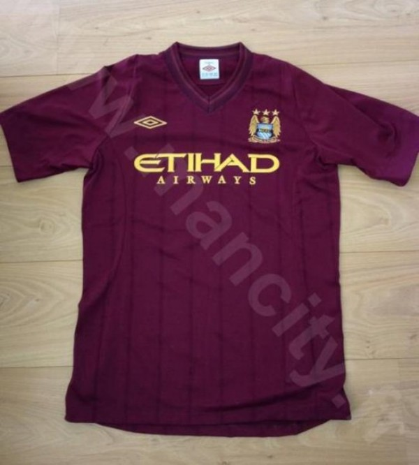 manchester city away shirt 2012 600x666 Manchester City Away Shirt for 2012 13 Season By Umbro [PHOTO]