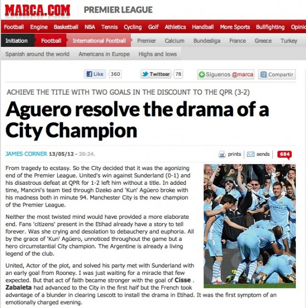 marca cover tiff1 600x605 Worldwide Press Reaction to Manchester City Winning Premier League [PHOTOS]